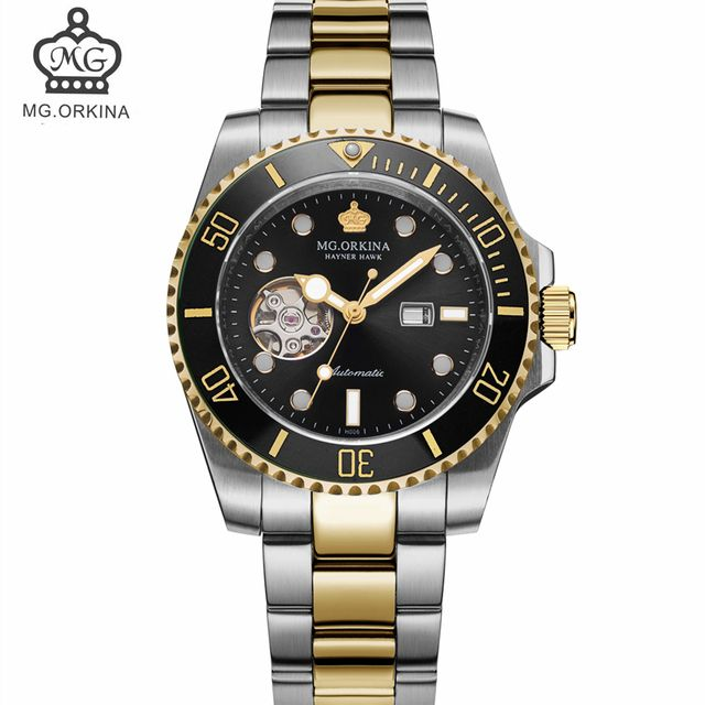 MG ORKINA Men's Limited Edition Steel Mechanical Watch with Waterproof Ceramic Bezel Automatic Watches Men Top Luxury Brand