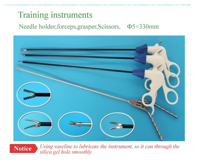 Instrument for laparoscope training ,forceps,Scissors,grasper,needle holder