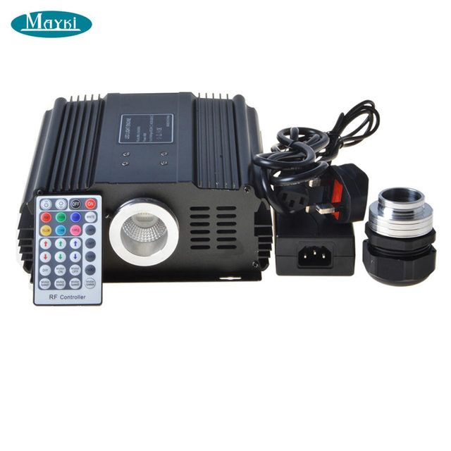Maykit Big Power 75w Rgb Led Dmx Colorful Fiber Optic Light+28key Rf Remote Controller For All Kinds Fibre Optical Blue