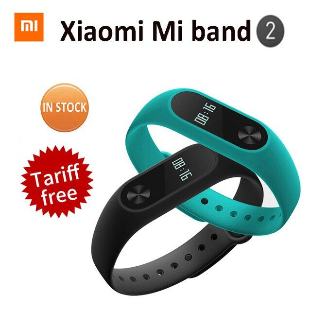 Original Xiaomi Mi Band 2 Xiomi Miband2 Pulse Smart Band Bracelet Waterproof Smartband Heart Rate Monitor Miband 2 Wristbands