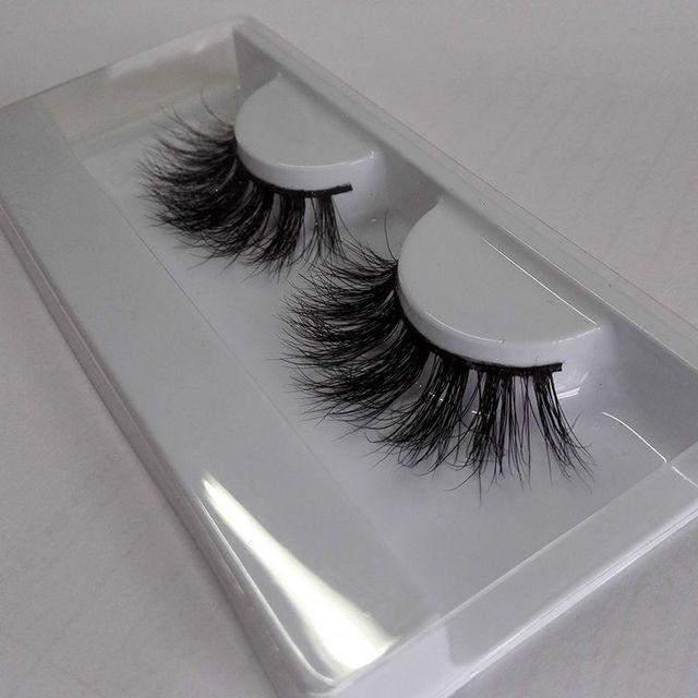 NEW arrival 100% Real Mink Fur Lashes Handmade Pretty 3D Strip Lashes Thick Fake Faux Eyelashes Makeup Beauty