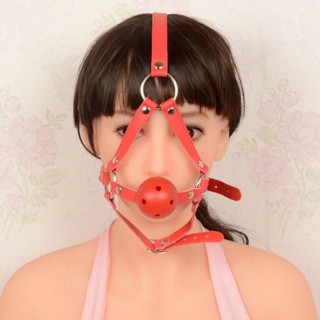 Adult Game Open Mouth Gags Oral Sex Ring PU Leather Bondage Stainless Steel Gag Slave Fetish Oral Fixation For Women Sexy Toys