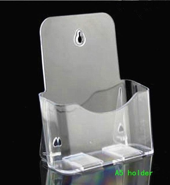 Clear A5 Single Plastic Acrylic Brochure Literature Pamphlet Display Holder Racks Stand To Insert Leaflet 50pcs