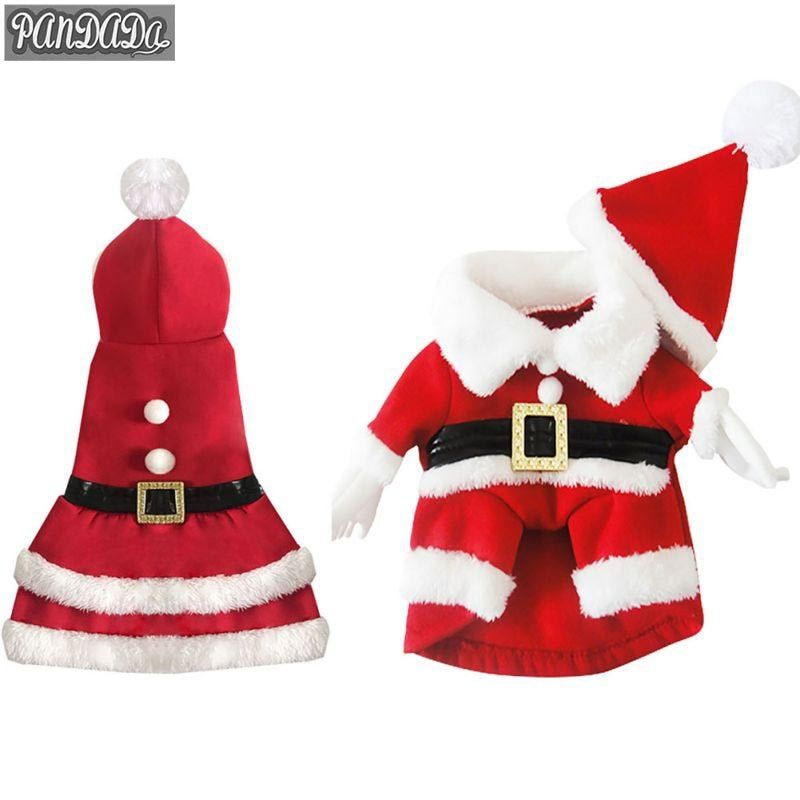 panDaDa Clothes For Dogs Apparel Dog Costume Clothes Pet Dog Christmas Santa Suit