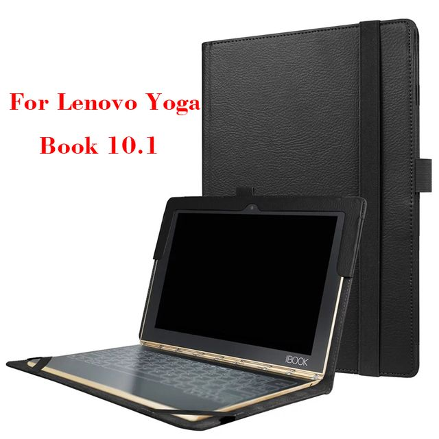 Yoga Book Filp Leather Cover Case Ultra Slim Cases Cover For Lenovo Yoga Book 10.1'' Protective Stand case with Keyboard Holder