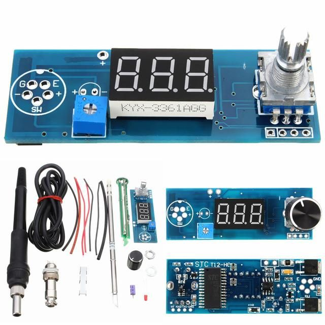 DIY Electric High quality Basic Ability PracticalDigital Soldering Iron Station Temperature Controller Kits T12 Handle Board