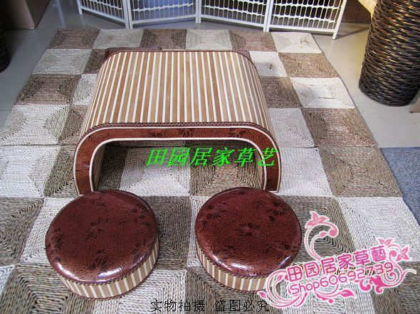 Fashion creative minimalist living room coffee table bamboo wood coffee table tatami coffee table kung fu tea table Korea pastor