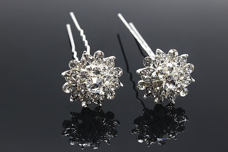 10pcs Fashion Rhinestone Bridal Hairpin Vintage Hair Pins Clip Crystal Hair Comb  Elegant Brides Hair Jewelry Accessories YXHE47