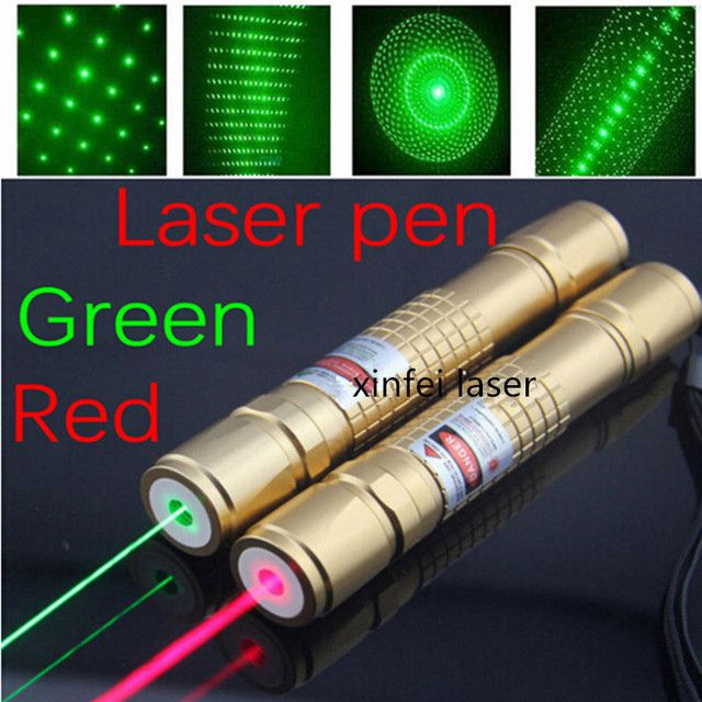 JSHFEI Laser set red  laser pointer light match Golden style include 18650 battery and charger WHOLESALE LAZER