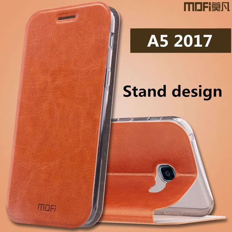 "for Samsung A5 2017 case Samsung Galaxy A5 2017 case cover MOFi original galaxy a5 2017 silicon back case 5.2"" flip cover"