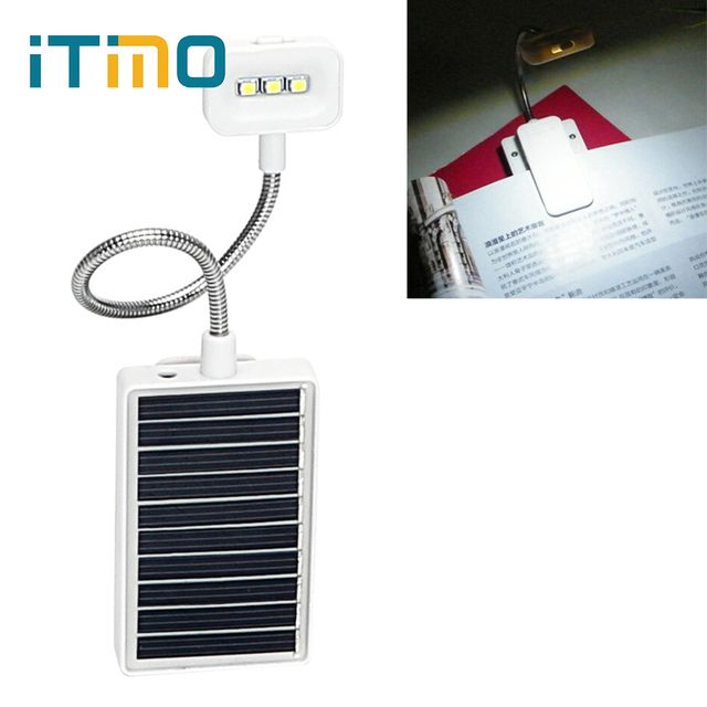 ITimo Portable Reading Lamp Reading Clip on Book Eye Protection with USB Interface LED Solar Book Light Modern Convenience