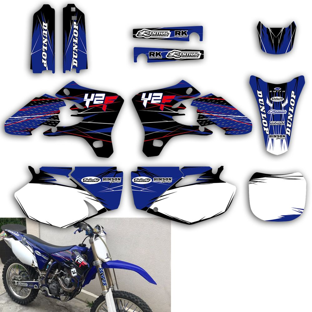 Team Graphic Background Decals Stickers Kit For Yamaha YZ YZF 250F 450F 250 450 YZ250F YZ450F YZF250 YZF450 2003 2004 2005