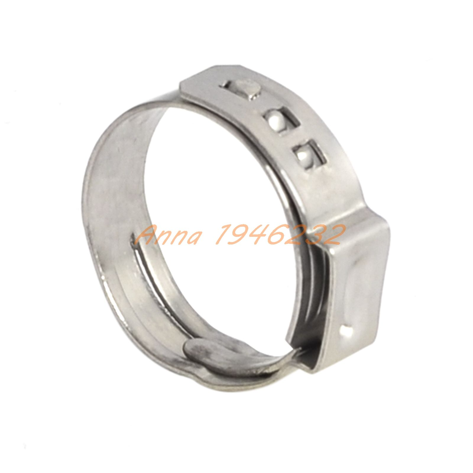 "Stainless Steel Pipe Hose Clamp Cinch Ring Crimp Pinch Fitting For 5/8"" PEX Tubing"