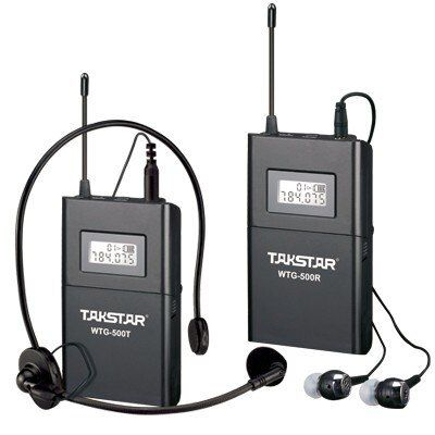 Custom Quantity Transmitter+N Receivers Takstar WTG-500 Wireless Tour Guide System UHF frequency 6selectable channels 100m