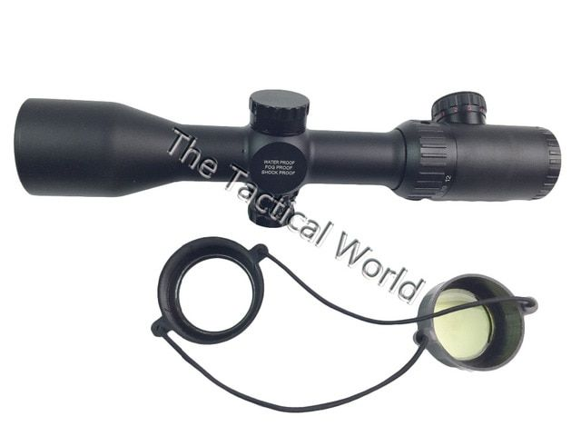 3-12x42 SF Magnification Tactical Rifle Scope Adjustable Objective Lens and Mil-Dot Reticle Red Green illumination Hunting