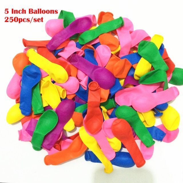 250pcs Small Balloons mix color  mounted shooting balloon globo luftballon ,Water Ballon latex balloons birthday party supplies