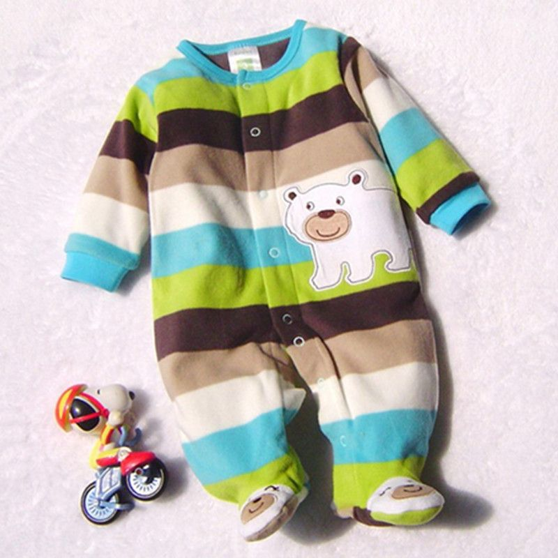 2018 Baby Rompers Clothes Baby Clothing Winter Newborn Baby Boy Girl Clothes Fleece Jumpsuit Bear Overalls Baby Snowsuit Costume