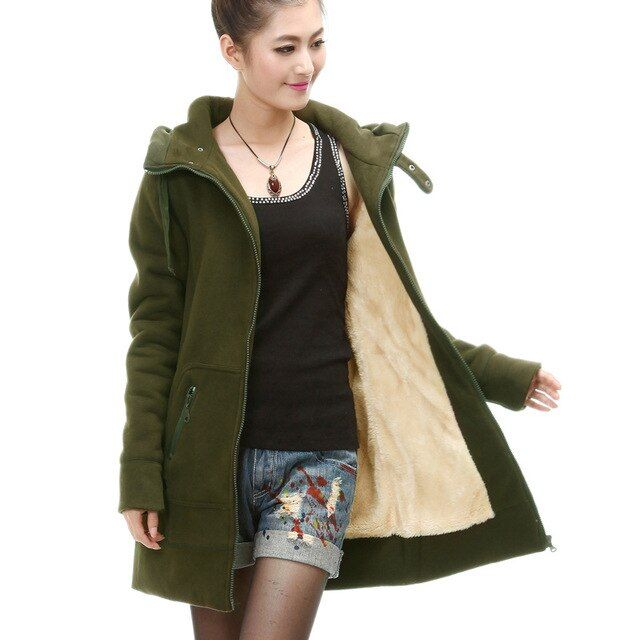 2016 Autumn and Winter Thick Warm Fleece Liner Hoodies For Women Casual Hoodies Woman Sweatshirts Plus Size S - 4XL