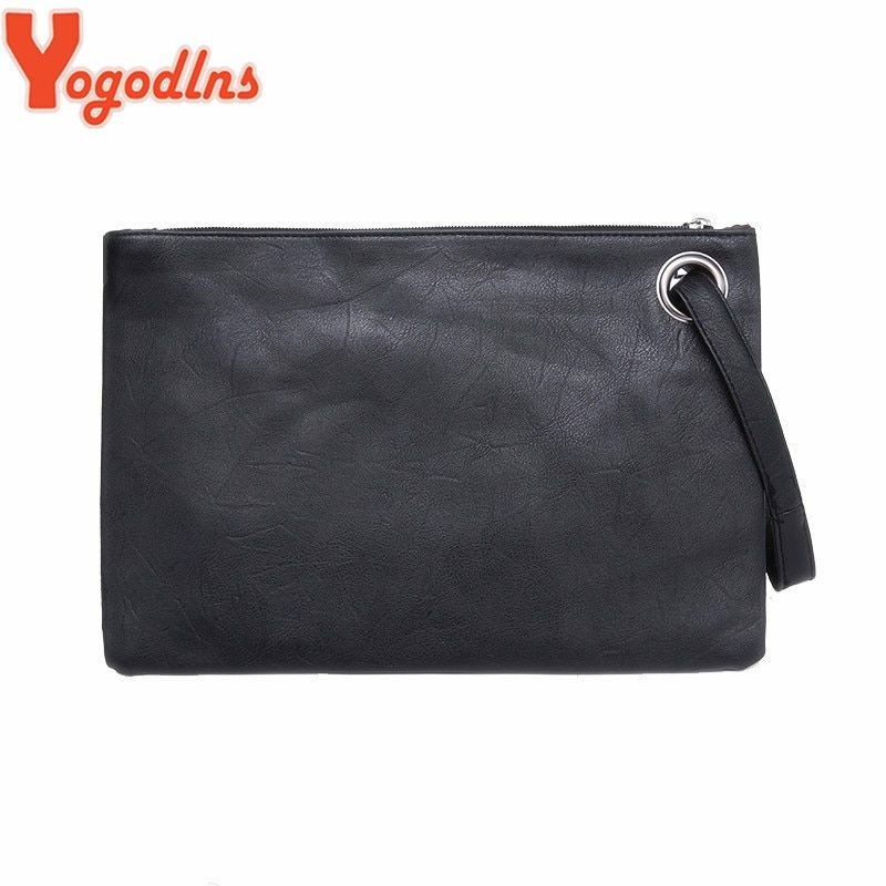 Yogodlns Fashion solid women's clutch bag leather women envelope bag clutch evening bag female Clutches Handbag free shipping