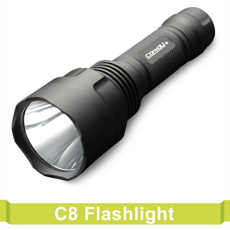 Convoy C8 LED Flashlight Powered By 18650 Battery Torch Lantern Lanterna Bike Self Defense Camping Light Lamp For Bicycle