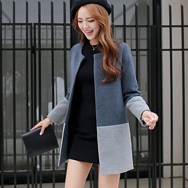 2016 New Winter Women's Wool Coat Female Korean Long Section Of Large Size Long Sleeved Coat Female Winter Coat Women Elegant