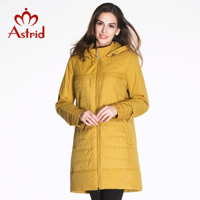 2017 Astrid female down Coat Plus Size Women Coats Spring Woman Jacket flocking woven High Quality Jackets Winter Coat AM-2181