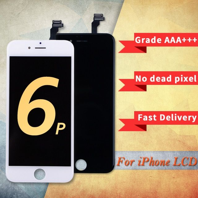 Black White Color 5PCS/LOT 5.5 inch For Ecran iPhone 6 LCD Touch Screen Replacement For iPhone 6 Plus LCD Display Assembly