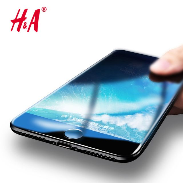 3D Full Cover Glass Film Tempered Glass for iphone 7 6 6s Screen Protector Cover Protective Soft PET Edge curved Glass