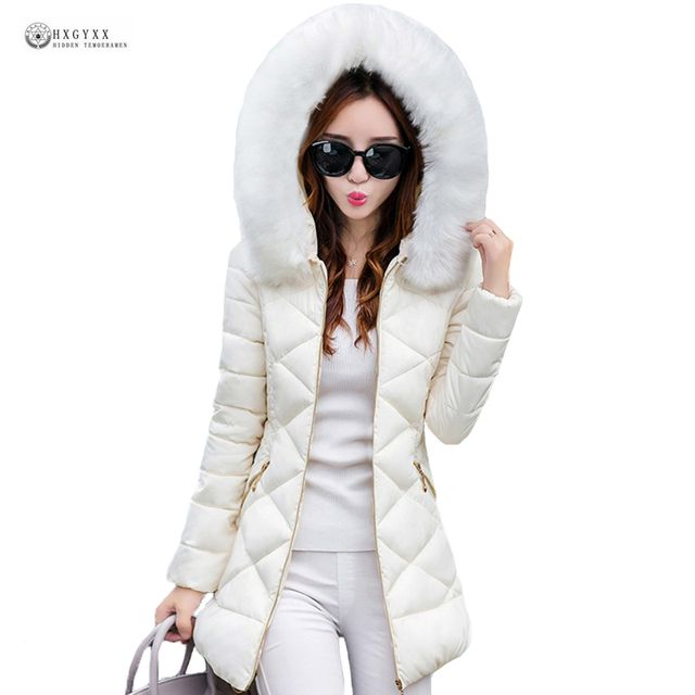 Ukraine Special Offer Winter Jacket Women 2017 Elegant Pure Color Hooded Warm Cotton Coat High Quality Office Fashion Aa226