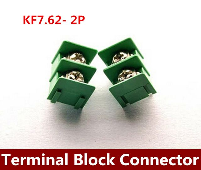 Wholesale  1000PCS   KF7.62 spacing of 7.62 MM 2 p terminal terminal can be spliced type double crown  Terminal Block Connector