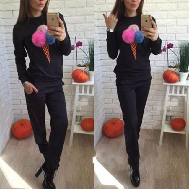 survetement femme marque 2016 winter suits for women 2 piece set women's tracksuits suit women brand tracksuit for women