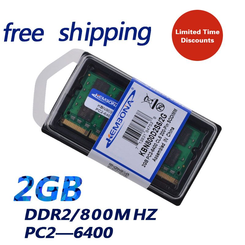 KEMBONA Brand New Sealed DDR2 800 Mhz 2GB PC2 6400 2GB 200pin (for all motherboard) laptop RAM Memory / Free Shipping!!!