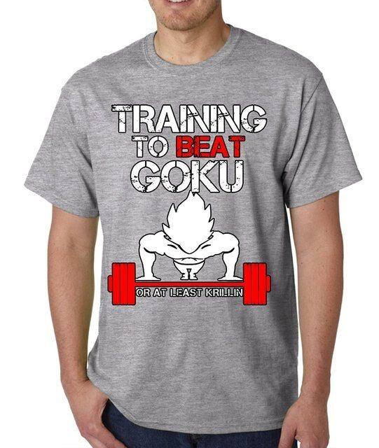 Gildan Fashion T-shirts  DBZ Traininger To Beat Goku Or At Least Krillin Men's T-Shirt