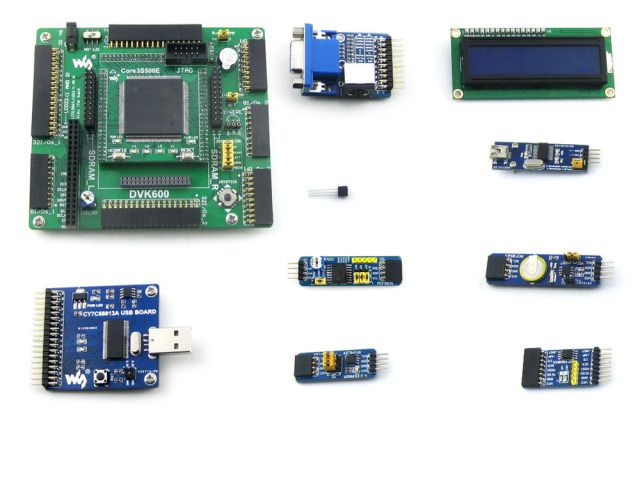 XILINX FPGA Development Board Xilinx Spartan-3E XC3S500E Evaluation Kit+ 10 Accessory Kits= Open3S500E Package A