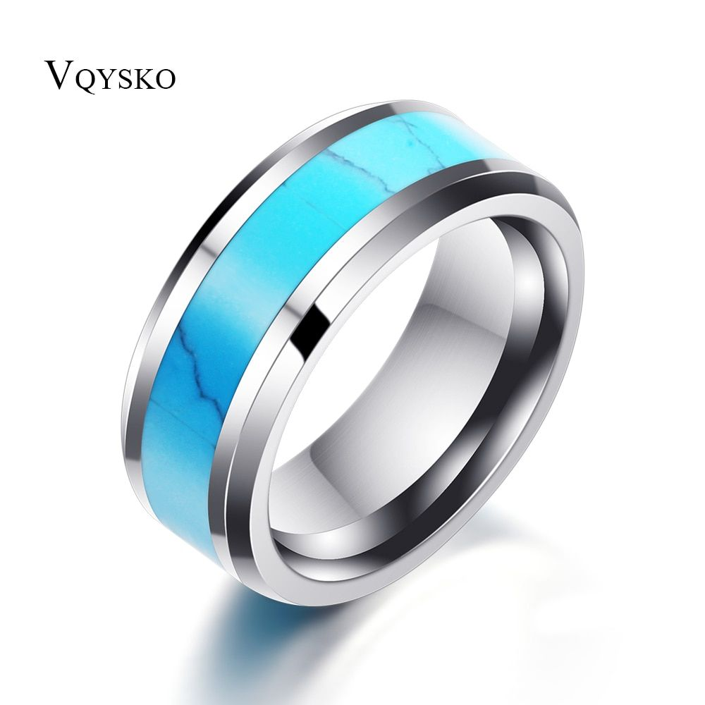 8mm Tungsten Carbide Ring Wedding Engagement Bands Ring For Men Women Vintage Jewelry