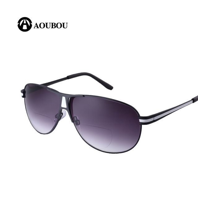 AOUBOU Bifocal Reading Glasses Unisex Diopter Glasses Male Reading Sunglasses Presbyopic Eyeglasses +1.0+1.5+2.0+2.5+3.0+3.5