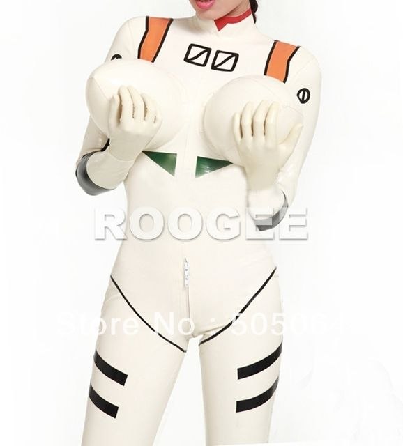 Inflatable latex  catsuit cat suit for women