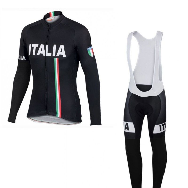 2016 winter thermal fleece nationa team Italia cycling jersey Ropa Ciclismo long sleeve racing bike cloth MTB Bicycle maillot