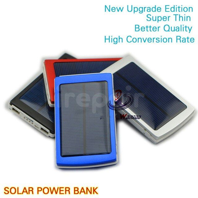 Free Gifts Upgrade NEW 12000 mAh Solar Power Bank 10000mah Mobile Powebank External Backup Charge Battery for iphone for samsung