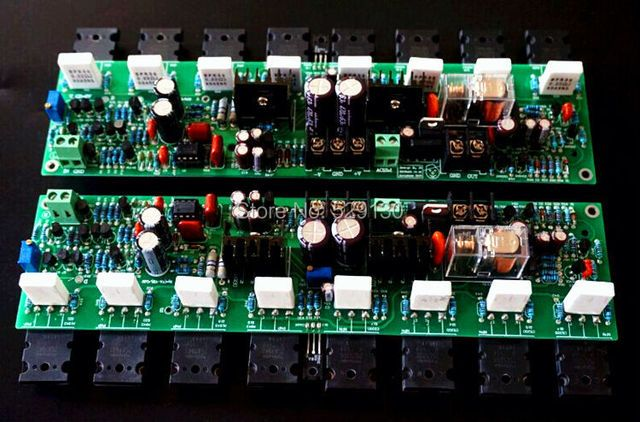 diy mirror design accuphase E405 pure DC amplifier board protect the mono amplifier accuphase  two-channels speaker amplifier