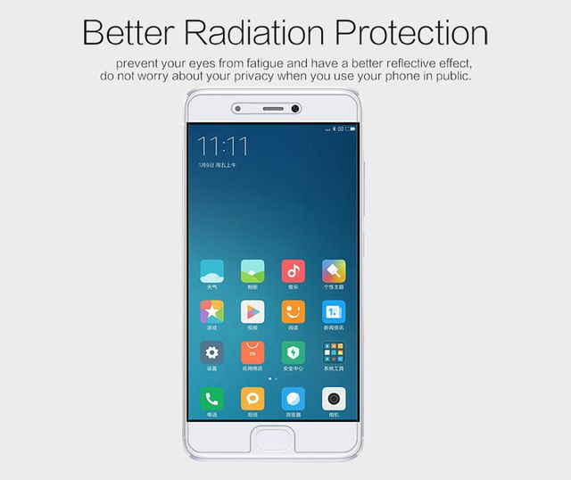 Case For Xiaomi Mi5S Screen Protector, Brand NILLKIN Matte Scratch-resistant Protective Film For Xiaomi Mi5S Screen protector