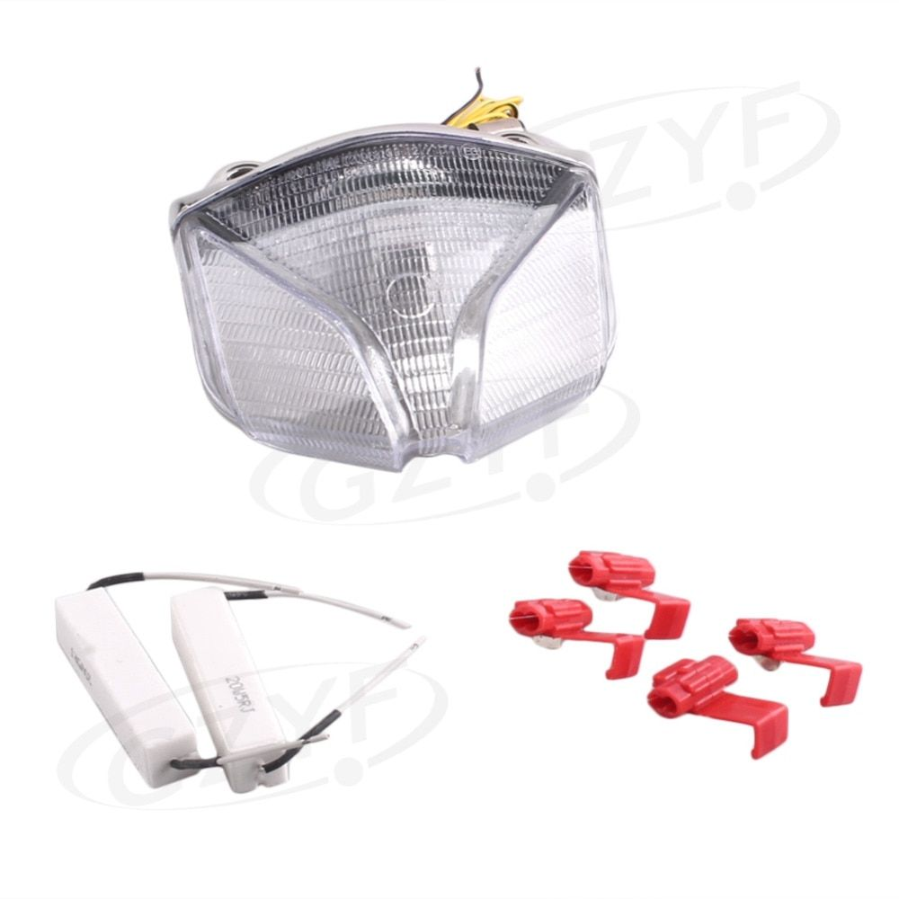 For Kawasaki MV AGUSTA BRUTALE STRATA 2001-2009 LED Rear Tail Brake Light Turn Signal Lamp Integrated  E-Mark Clear