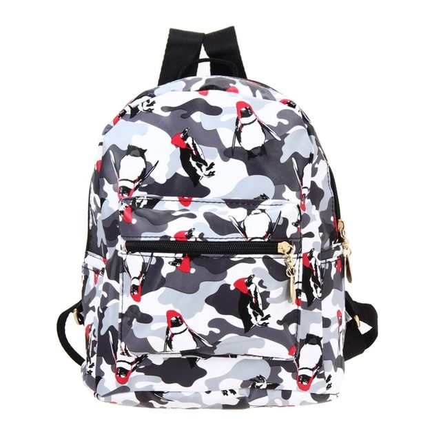 2017 New Fashion Women Backpack Printing Backpack Black School Bags For Teenage Girls Casual Travel Bag Small Backpack Mochilas