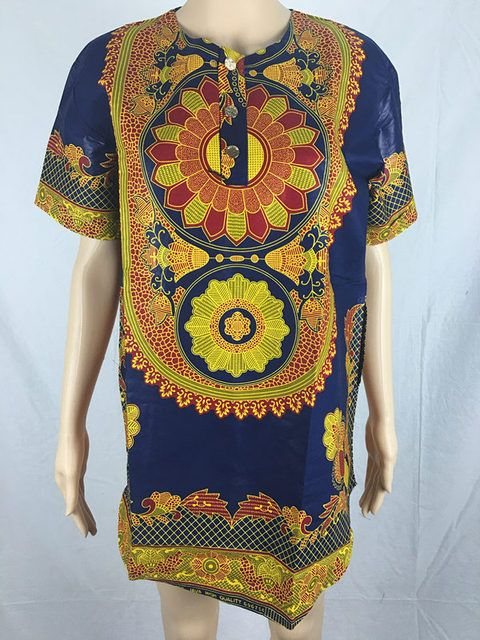 Private Custom Africa Style Tshirt Print Dashiki For African American Wax