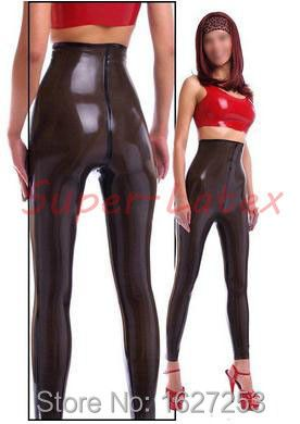 100%Latex Rubber Gummi Legging .4mm Catsuit Pants Latex trousers high waist