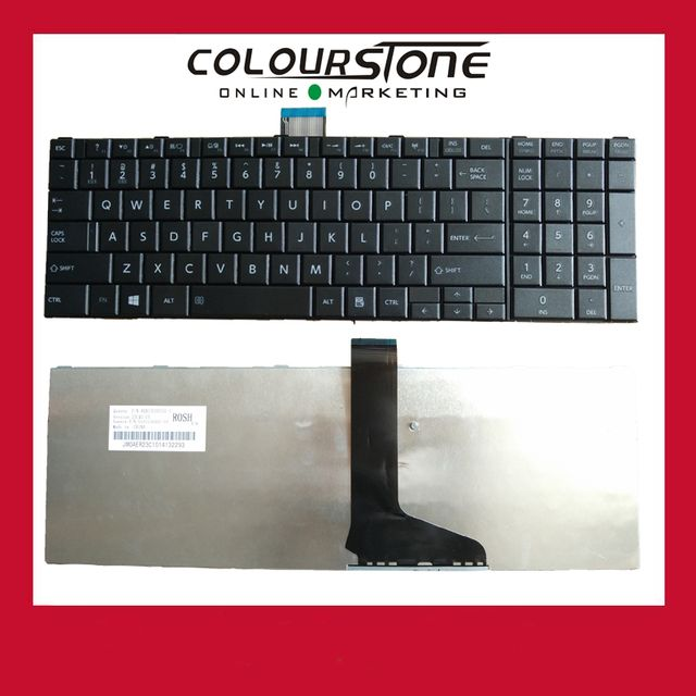 C850 US Laptop keyboard For Toshiba Satellite C850 C850D C855D C870 C870D C875D black notebook keyboard english us langauge