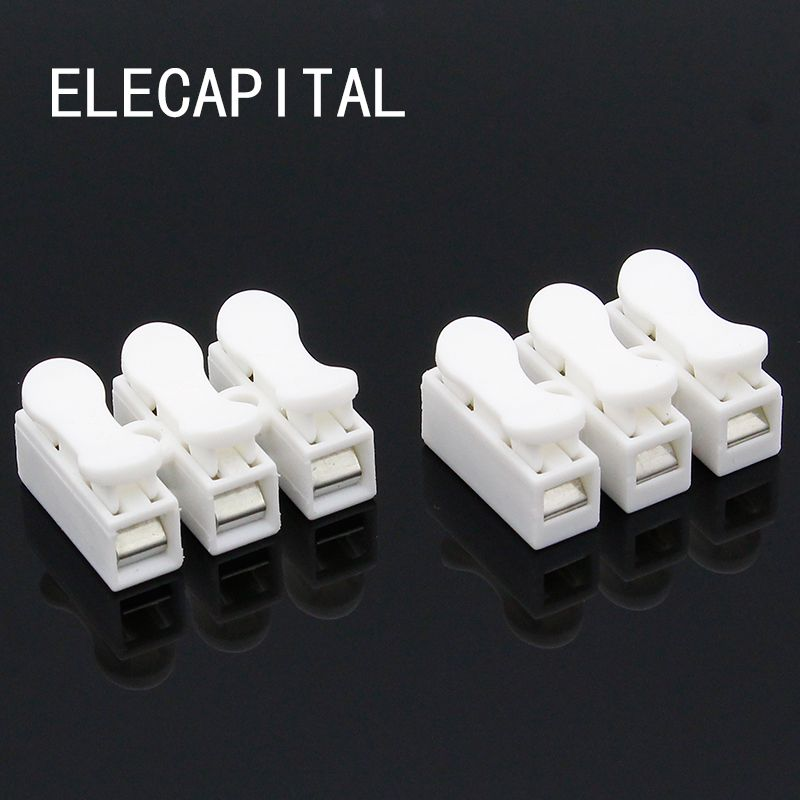 10x3P 2PSpring Connector LED Strip Light Wire Connecting No Welding No Screws Quick Connector cable clamp Terminal Block 2 3 Way