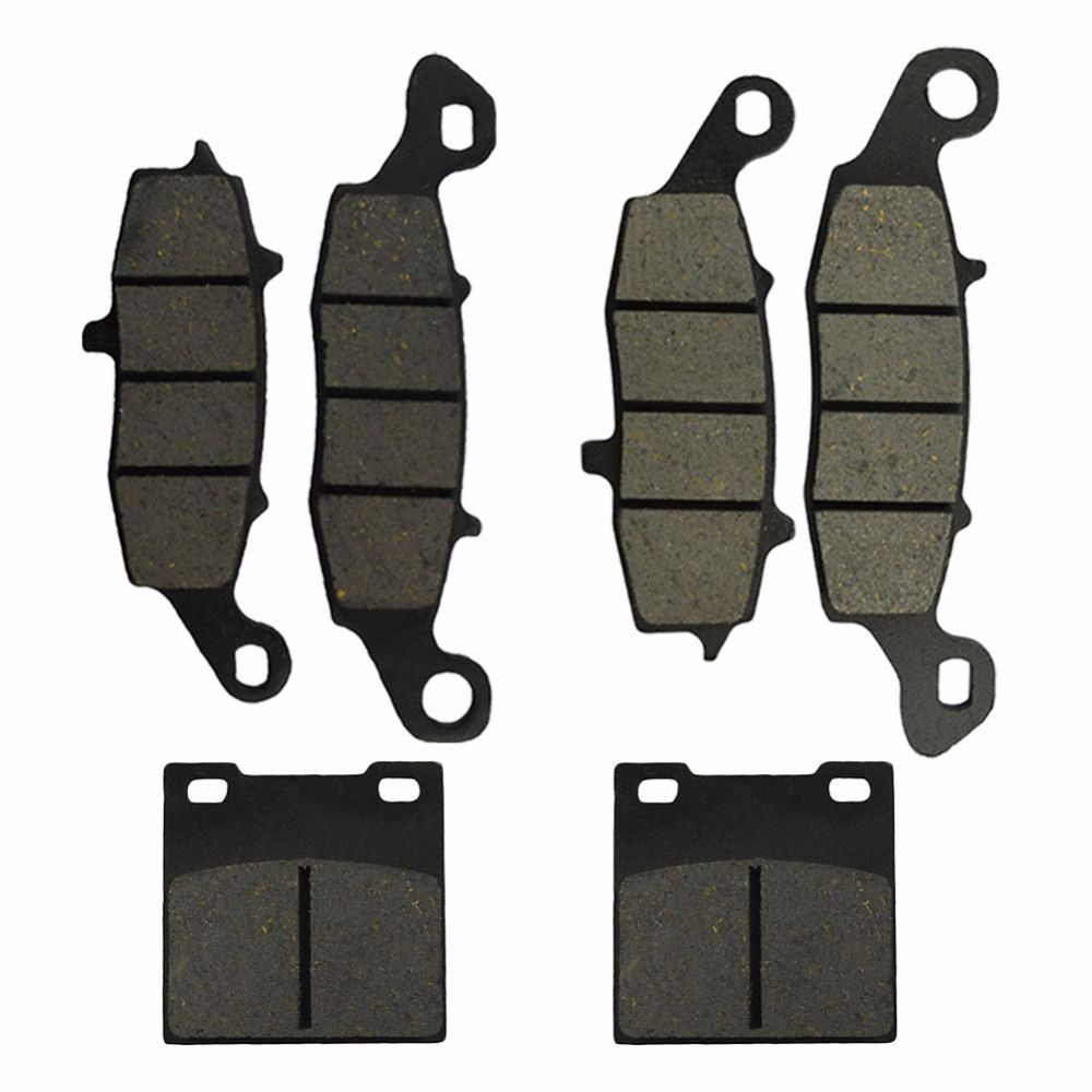 Motorcycle Front and Rear Brake Pads for Suzuki GSX 600 GSCX600 F Katana 1998-2006 Black Brake Disc Pad