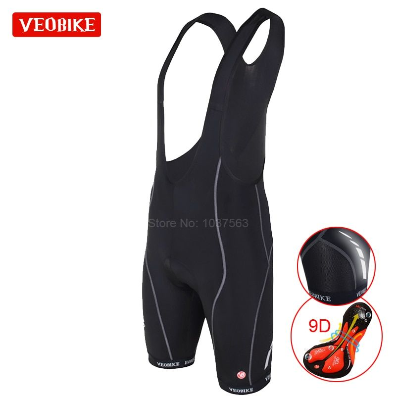 VEOBIKE Pro Team Ropa Ciclismo Men's Cycling Bib Shorts Pants Bicycle Bike Vest Shorts Clothing 9D Cushion Gel Pad Braces Tights