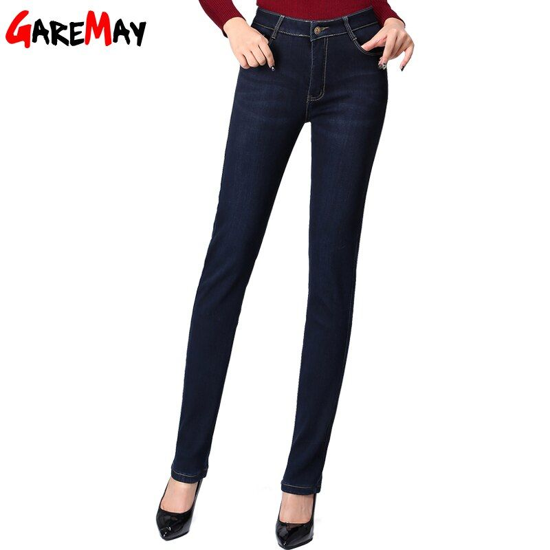 Winter Jeans Women Plus Size Skinny High Waist Denim Warm Jeans Female Women Black Pants Womens Jeans Denim Velvet For Woman